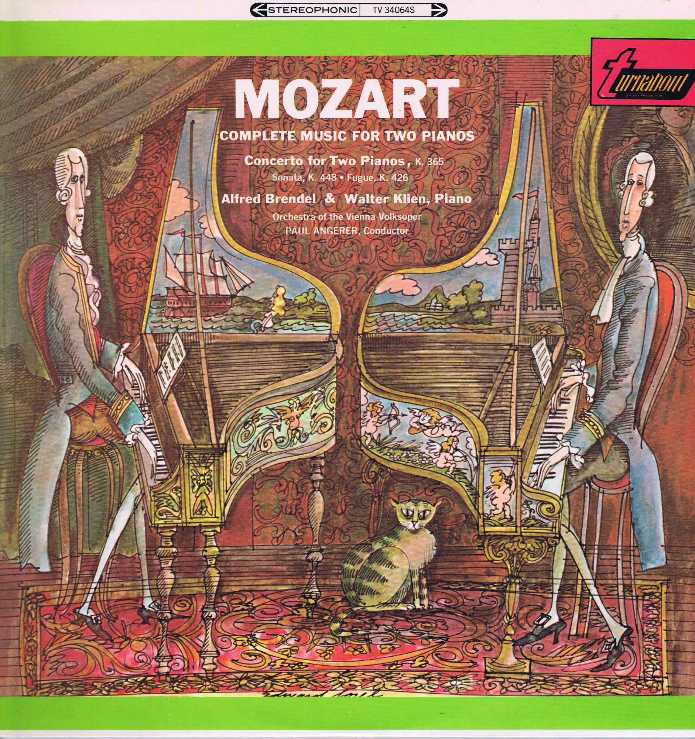 Turnabout Tv 34064s Mozart Complete Music For Two Pianos