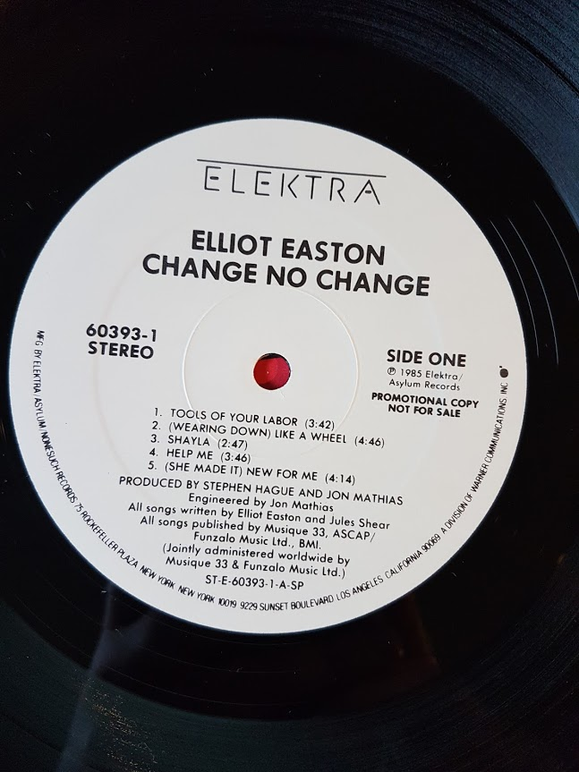 Elliot Easton Change No Change Elektra Promo Copy Lp