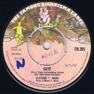 Clifford T. Ward – Gaye - CB.205 - 7-inch Vinyl Record