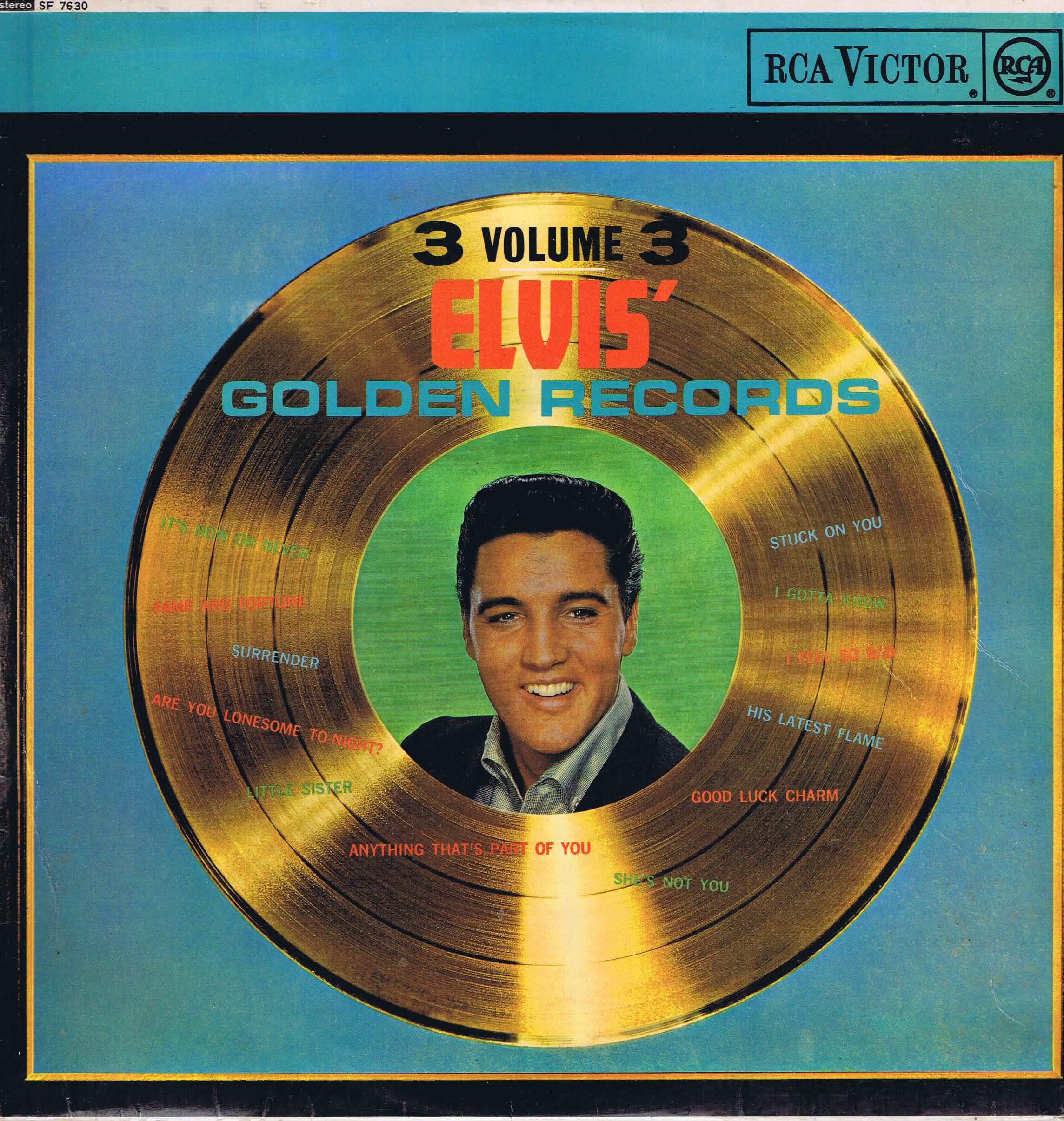 Elvis Presley Elvis Golden Records Vol 3 Sf 7630