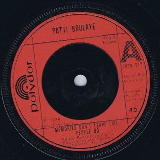 Patti Boulaye – Memories Don't Leave Like People Do - 7-inch Vinyl Record
