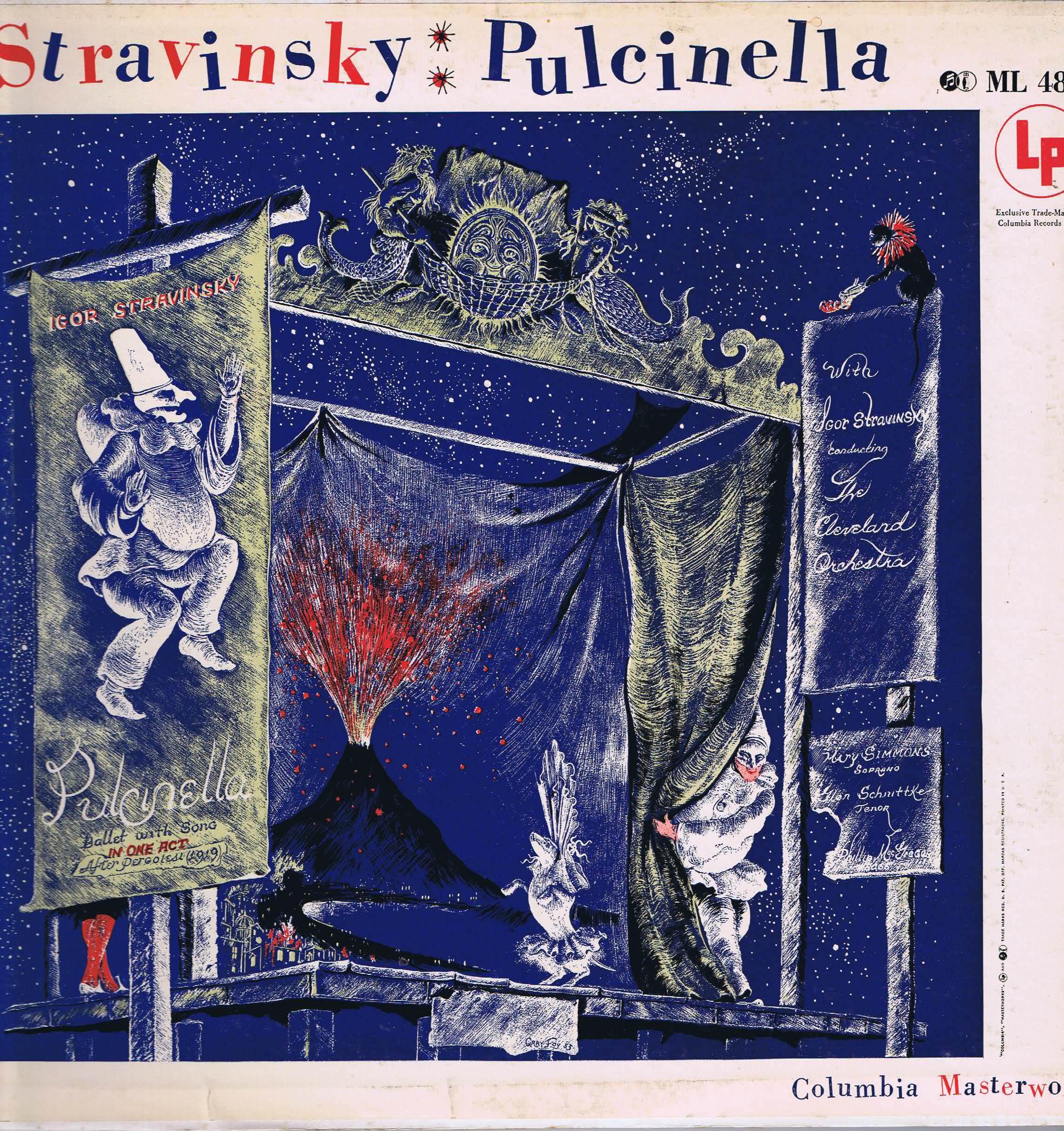 Columbia Ml 4830 Stravinsky Pulcinella Simmons