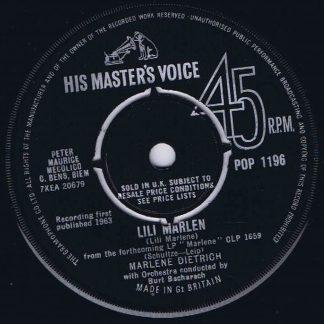 Marlene Dietrich – Sag Mir Wo Die Blumen Sind - POP-1196 - 7-inch Record