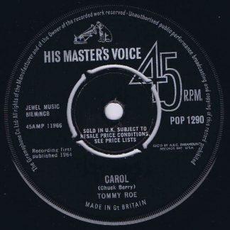 Tommy Roe – Carol - HMV - POP-1290 - 7-inch Record