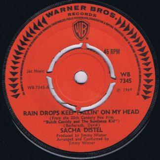 Sacha Distel – Rain Drops Keep Fallin' On My Head - WB 7345 - 7-inch Record