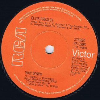 Elvis Presley – Way Down - RCA 0998 - 7-inch Vinyl Record