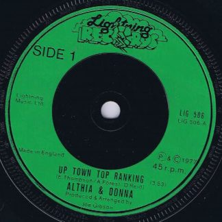 Althia & Donna / Mighty Two - Up Town Top Ranking / Calico Suit - 7-inch Record