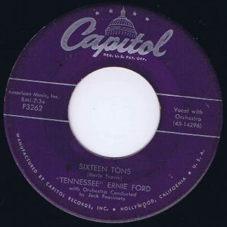 Tennessee Ernie Ford - Sixteen Tons - F3262 - 7-inch Vinyl Record