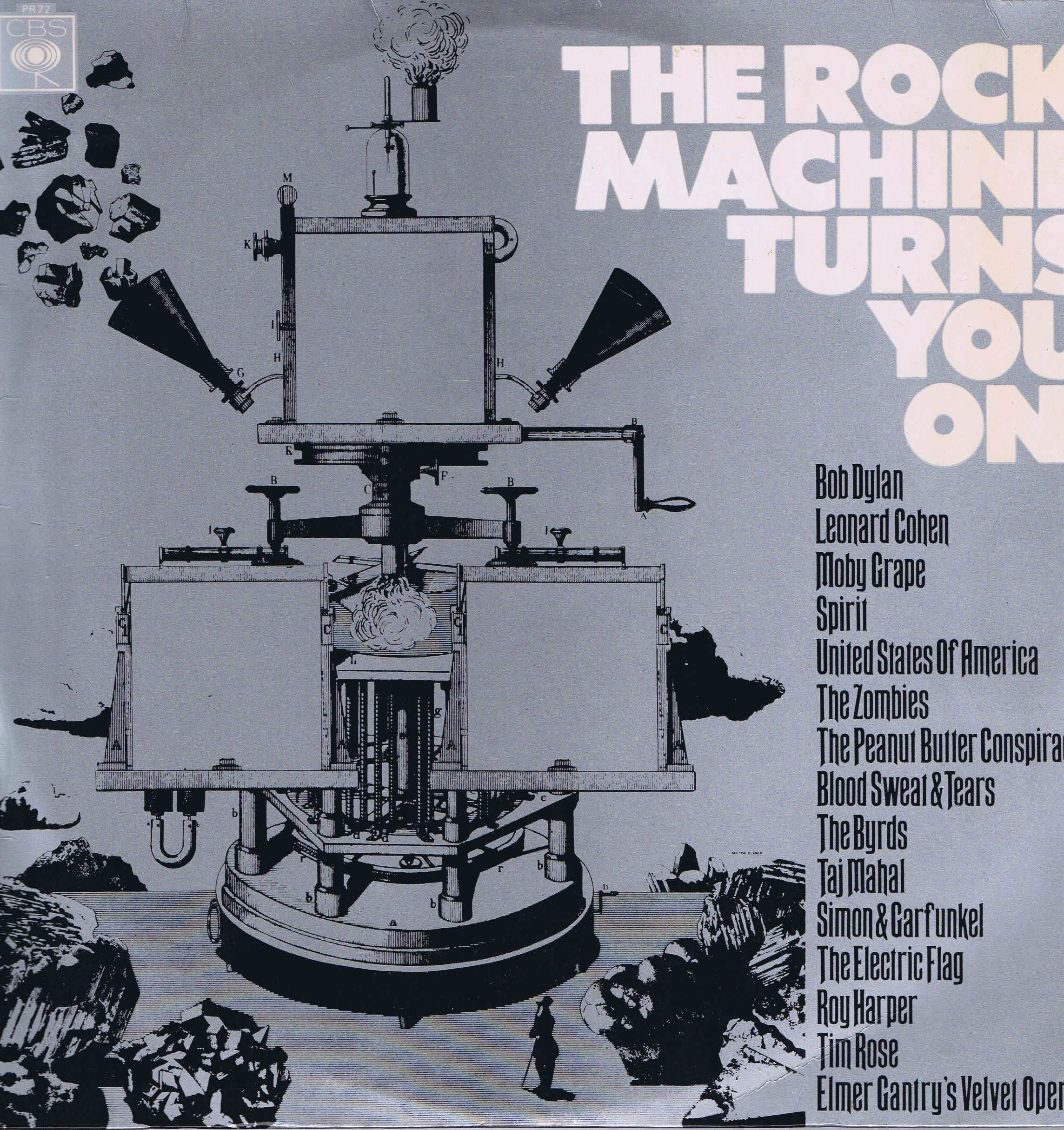 Various The Rock Machine Turns You On Cbs Pr 22 Lp