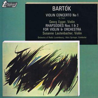 TV 34484S - Bartok - Violin Concerto / Rhapsodie 1 & 2 - LP Vinyl Record