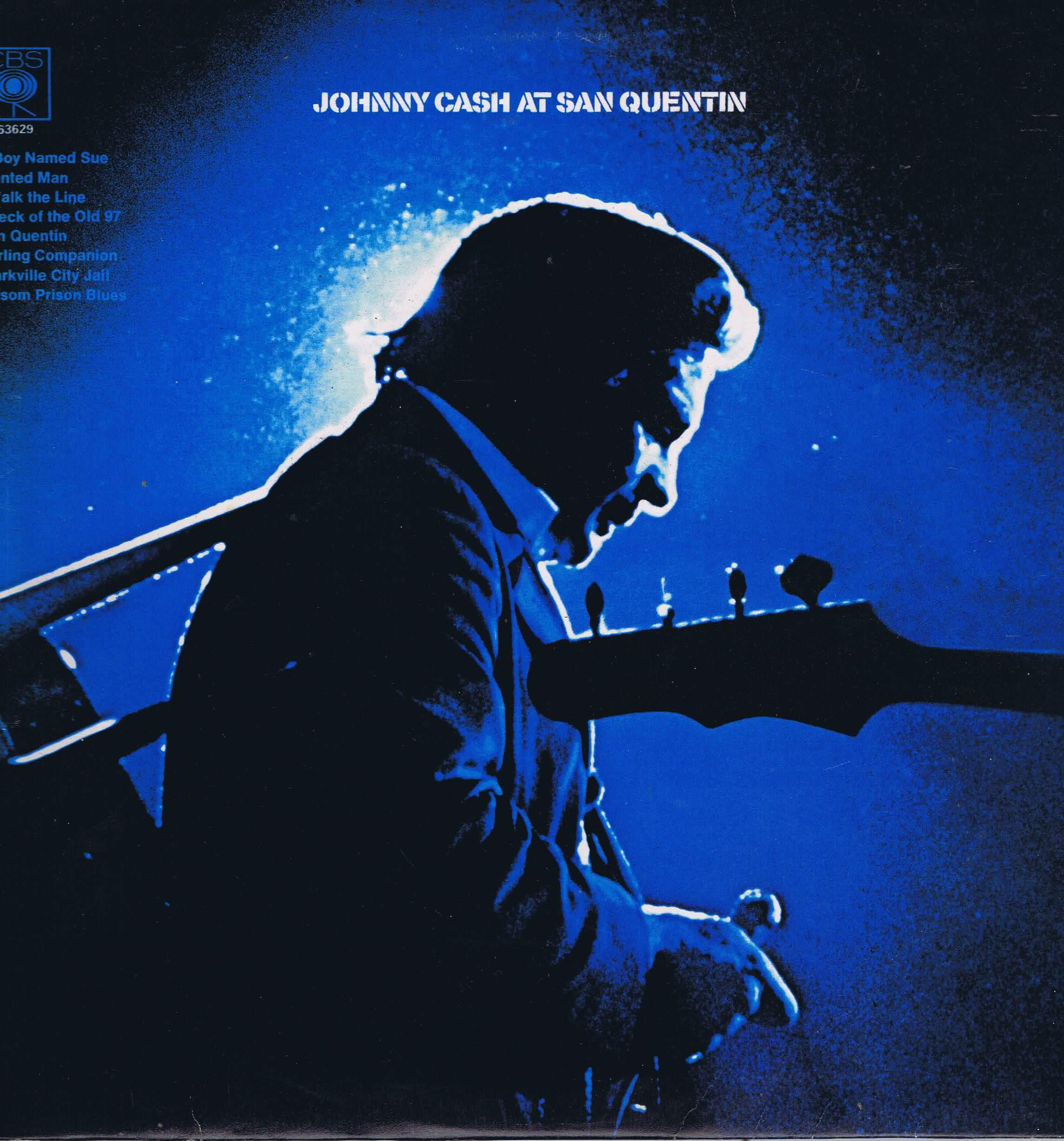 Johnny Cash At San Quentin Cbs 63629 Lp Vinyl Record