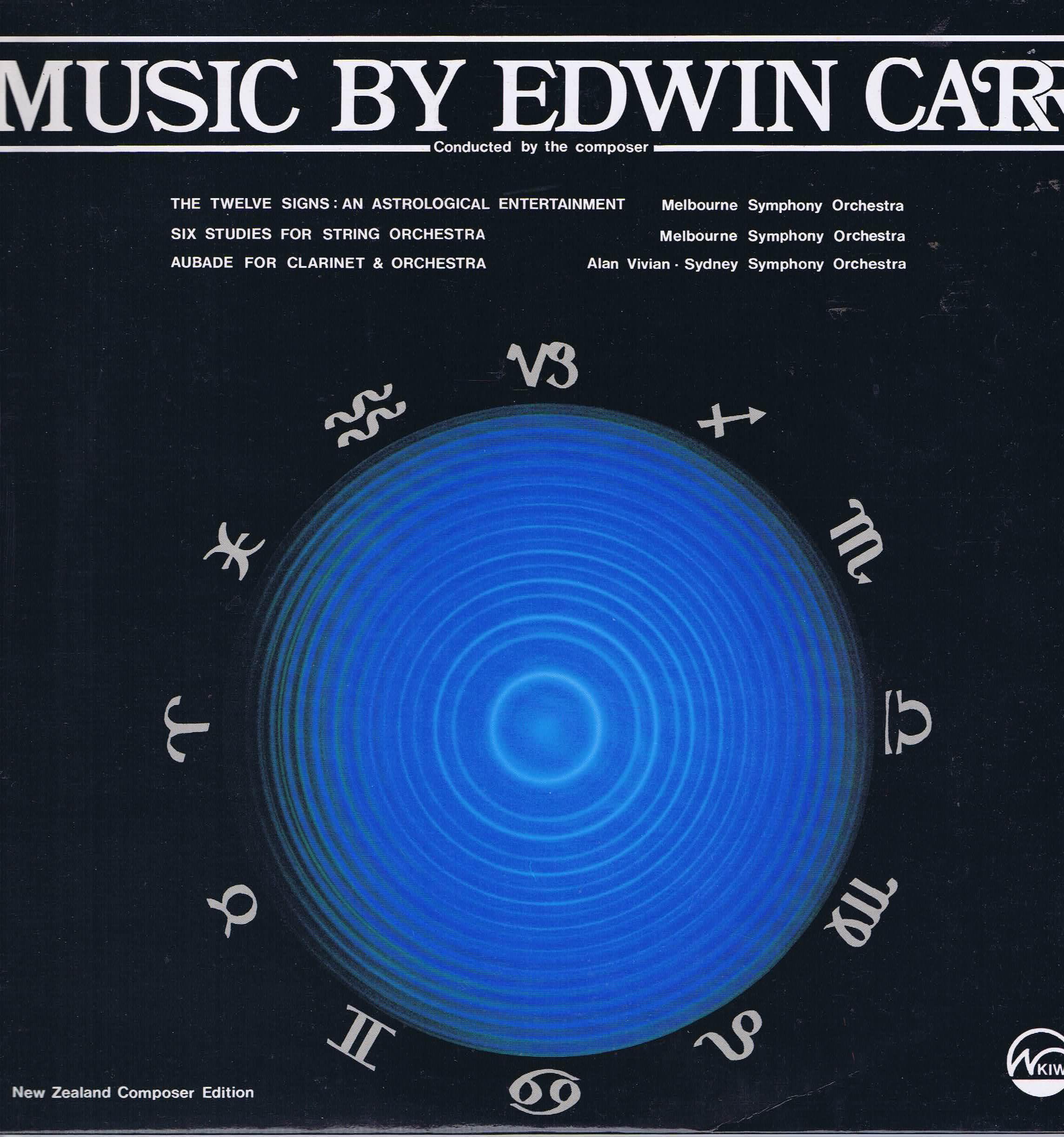Edwin Carr - Music by Edwin Carr Volume 3 - Kiwi SLD-76 – LP Vinyl Record