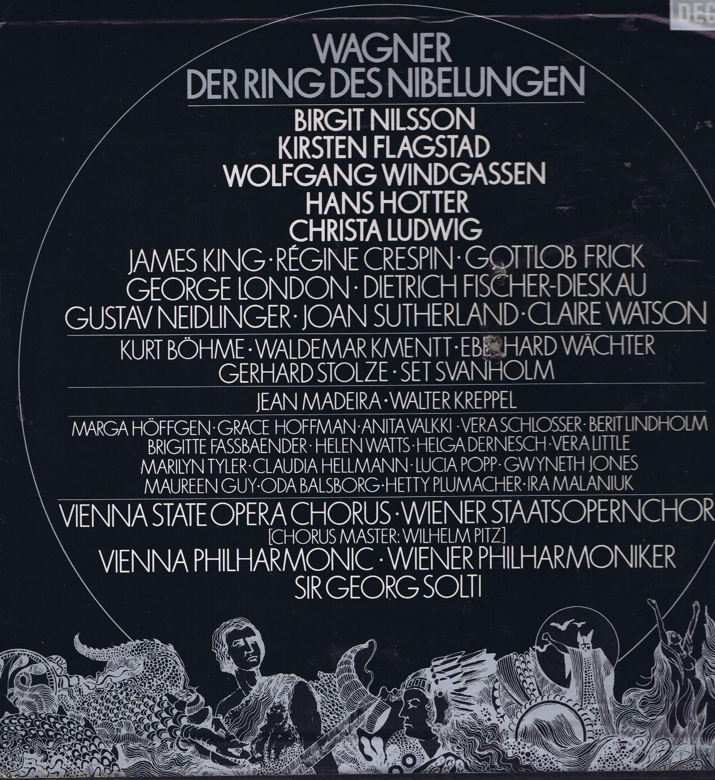 Wagner Der Ring Des Nibelungen Decca 19 Lp Set D