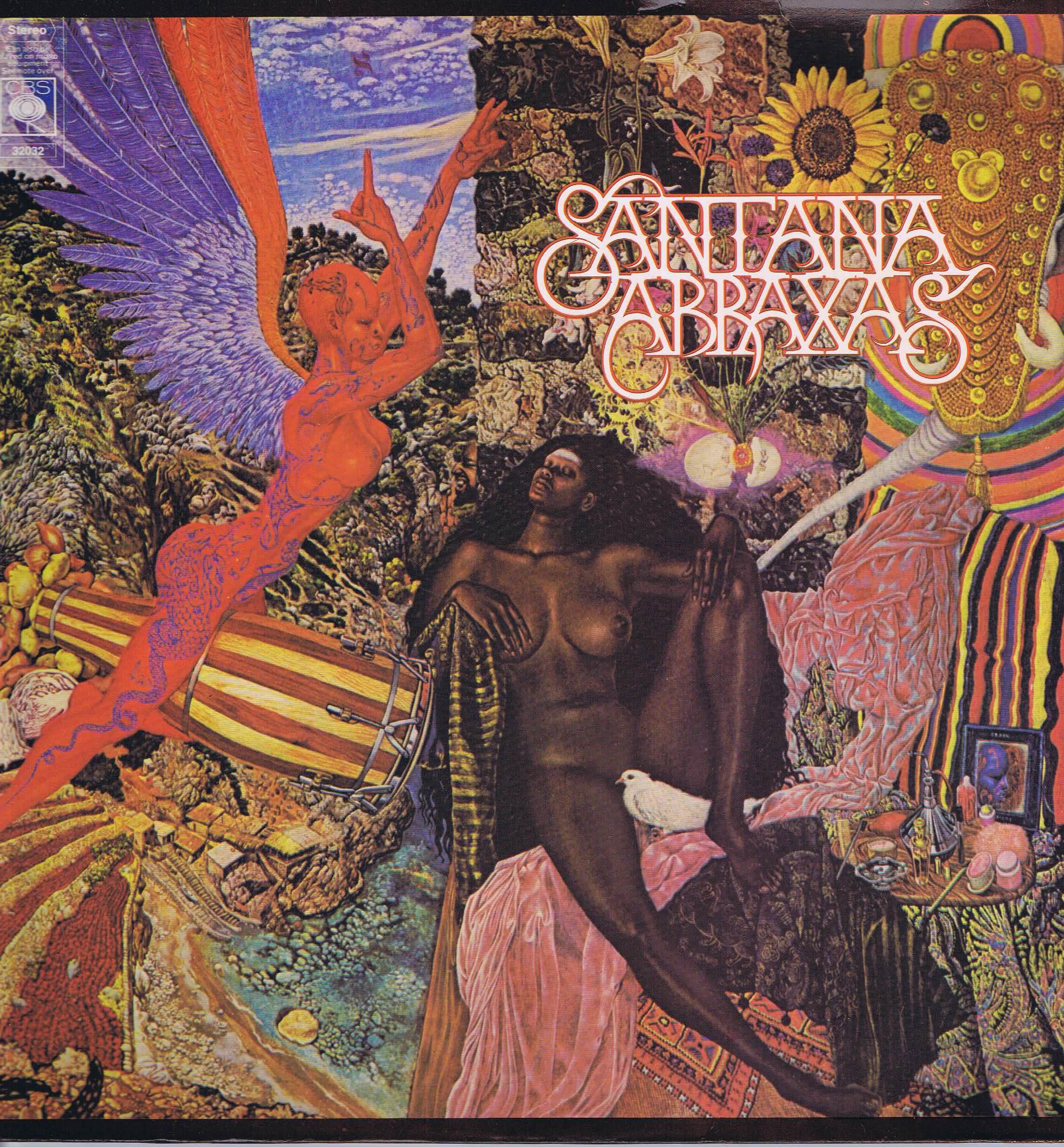 Santana Abraxas Cbs 32032 Lp Vinyl Record Wax