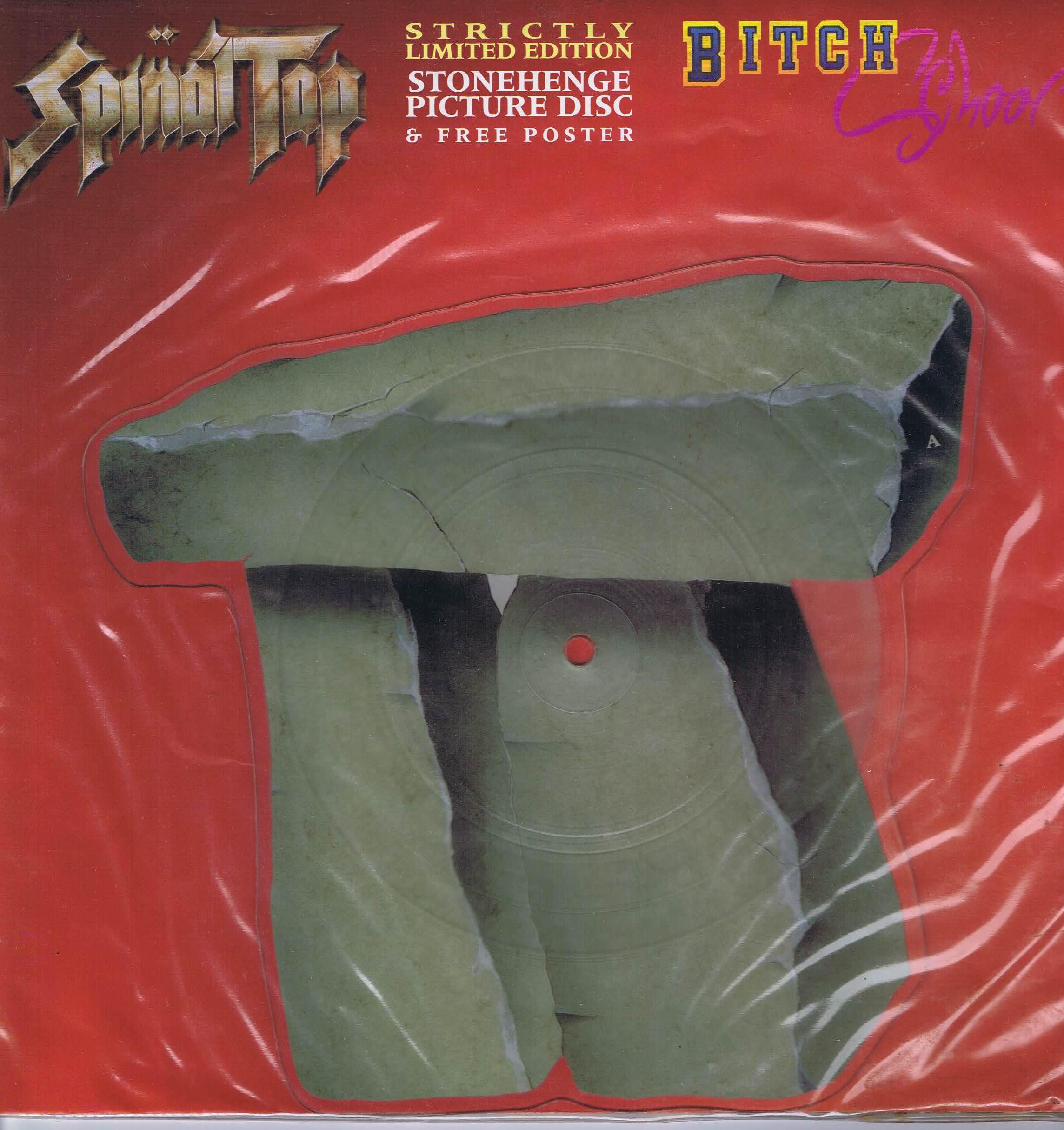 Spinal Tap Bitch School 7 Inch Stonehenge Shaped Vinyl