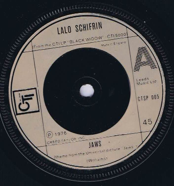 Lalo Schifrin - Jaws - CTSP 005 – 7-inch Vinyl Record